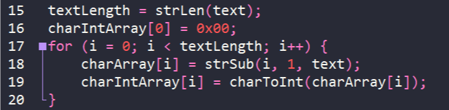 Convert string to array of characters