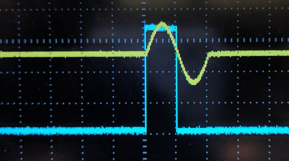 We exported the Logic Source event using the Trigger Protocol probe so we could also capture the event on the scope as shown in screen capture below.